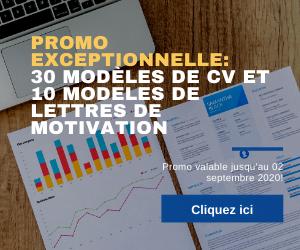 Promotion sur les Modèles de CV et les lettres de motivation